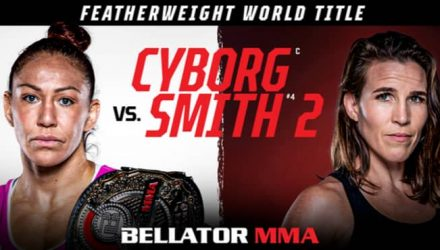 Bellator Cyborg vs Smith 2 fight poster