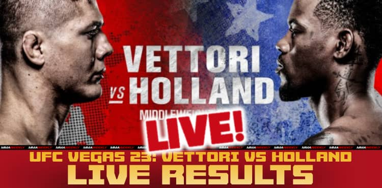 <p>UFC Vegas 23 Live Results: Vettori vs. Holland thumbnail