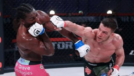 Vadim Nemkov punches Phil Davis at Bellator 257